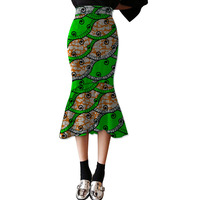 African Fashion Fishtail Skirt Women African Fashion Skirts Ladies Dashiki Element Africa Clothing Tailored Custom
