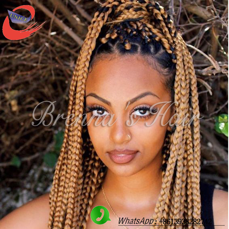 Crochet Hair Blonde : crochet braids18inch blonde crochet hair Synthetic box braids hair ...