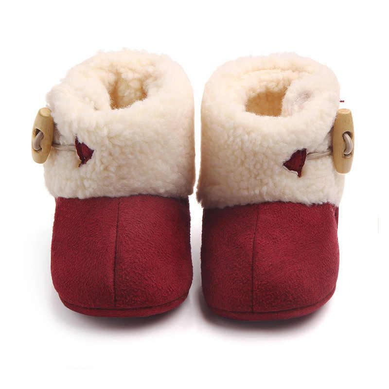 Модные зимние детские ботинки; теплые зимние ботильоны для маленьких девочек и мальчиков; меховая плюшевая стелька для малышей; ботинки с пряжкой