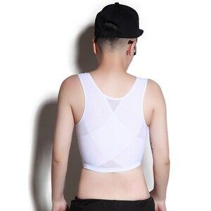 Image 2 - Borst Binder Tomboy Gesp Korte Borst Binder Trans Vest Casual Buste Shapers Tops Corset Tee Super Platte Beha Les Lesbische