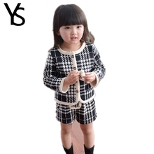 2T-6T 2 Pieces Set Toddler Baby Girls Clothes Set Children Clothes Plaid Print All For Children's Clothing And Accessories