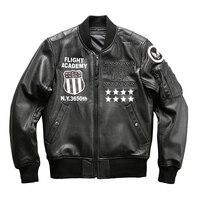 A109 Read Description! Asian size air force flight pilot leather jacket genuine goat leather rider jacket