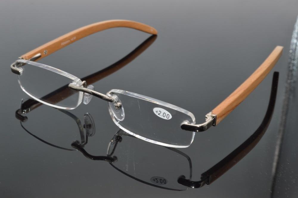 2017 handmade wood legs rimless slim lenses men women nature Reading Glasses+1.0 +1.5 +2.0 +2.5 +3.0 +3.5+4.0