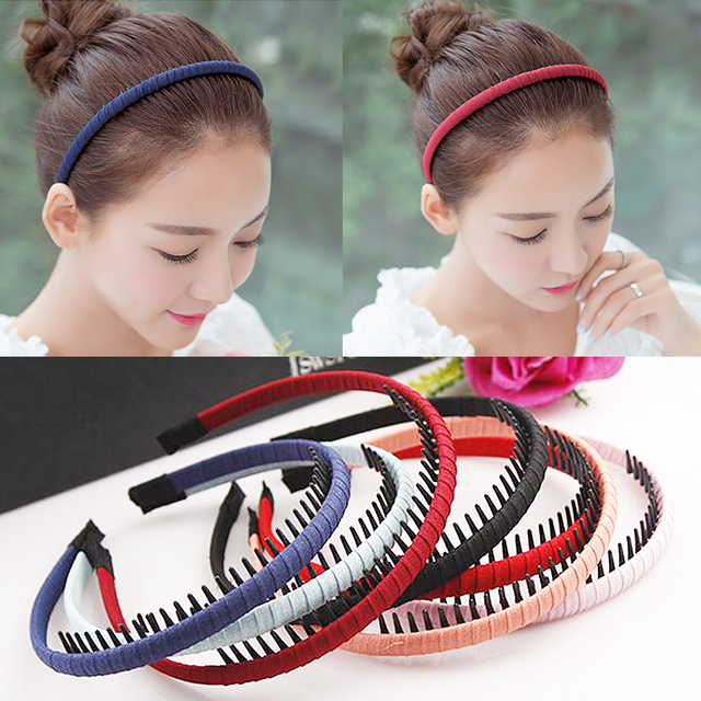 Hot 2018 Korean toothed female hair band fabric headband for women hair  accessories wholesale 797570b111e