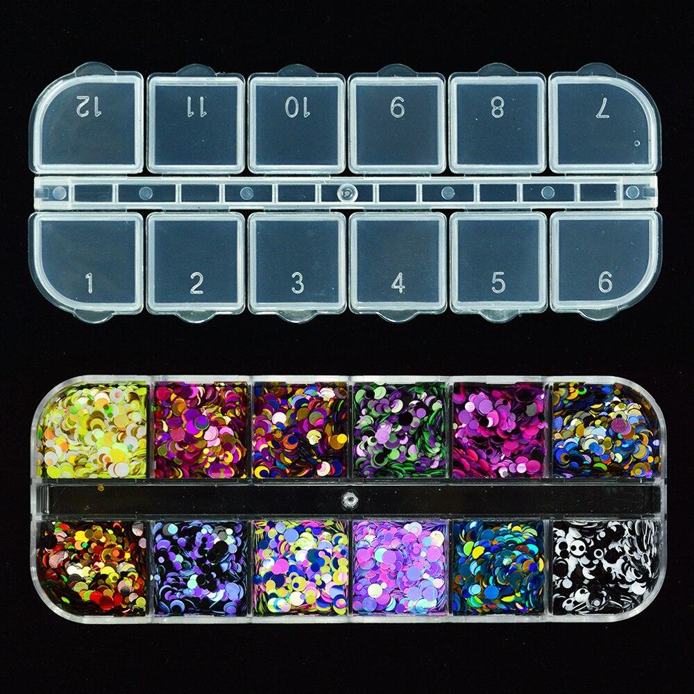 Schönheit & Gesundheit 1 Fall Multicolor Mini Runde Ultradünne Pailletten Nail Art Glitter 3d Scheibe Funkelnden Flocken Maniküre Dekoration Diy Paillette Jip SchöNe Lustre Nails Art & Werkzeuge