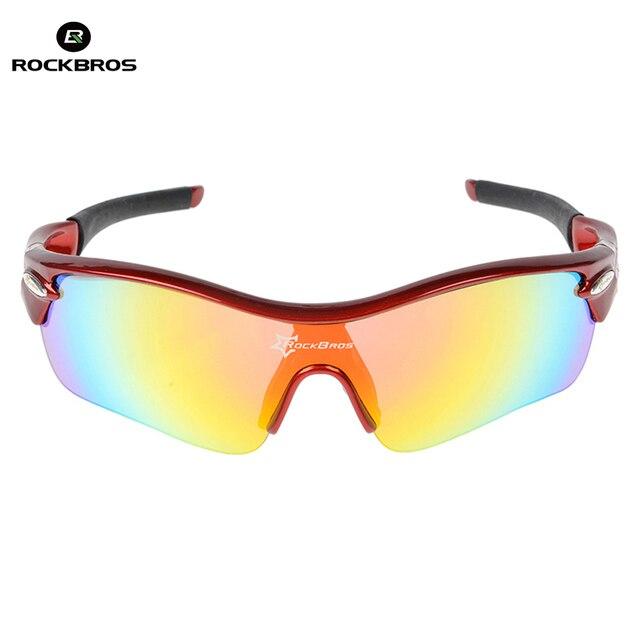 6ce16031adfd5a RockBros Gepolariseerde Fietsen Zonnebril Sporten Fiets Bril Bike Zonnebril  TR90 Goggles Eyewear 5 Lens UV400