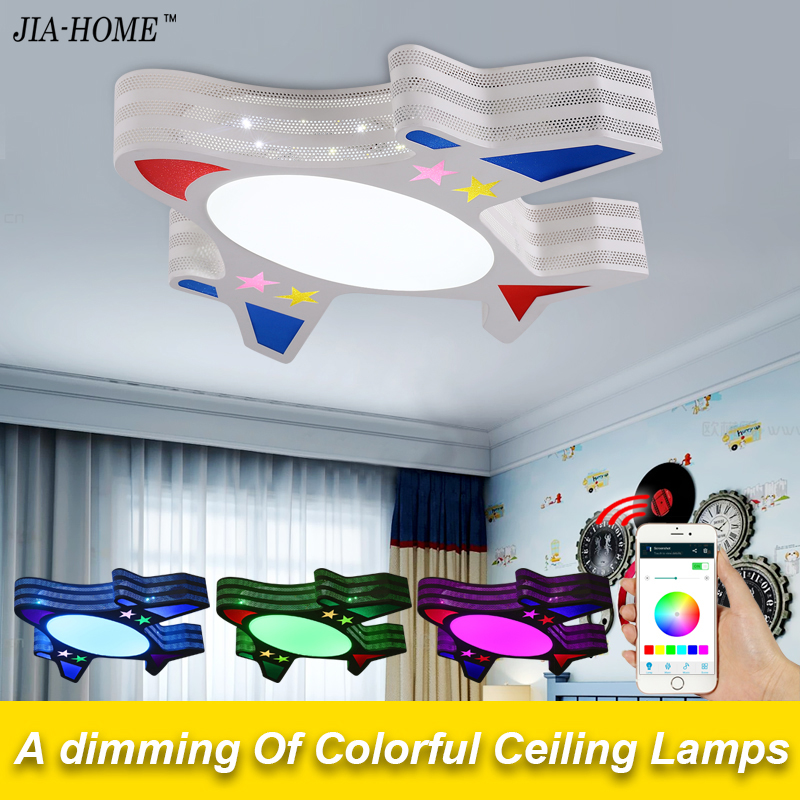 New RGB Dimmable ceiling light fixture with speaker phone Bluetooth control flight shape dome ceiling lamps for Child Bedroom naza m v2 flight control