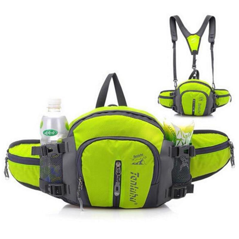 2016 Kaksikäyttöinen matkailu tasku monitoiminen taskut hartiat laukku kallistettu selkä vyötärö pussi hip laukku paketti korkea laatu