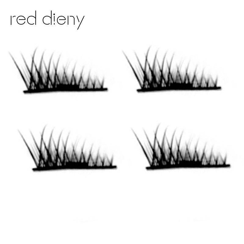 1 Pair 4 Pcs 3D Mink Magnetic Eyelashes Cross Thick Soft False Eye Lashes Extension Makeup Super Natural Long Fake Eyelashes