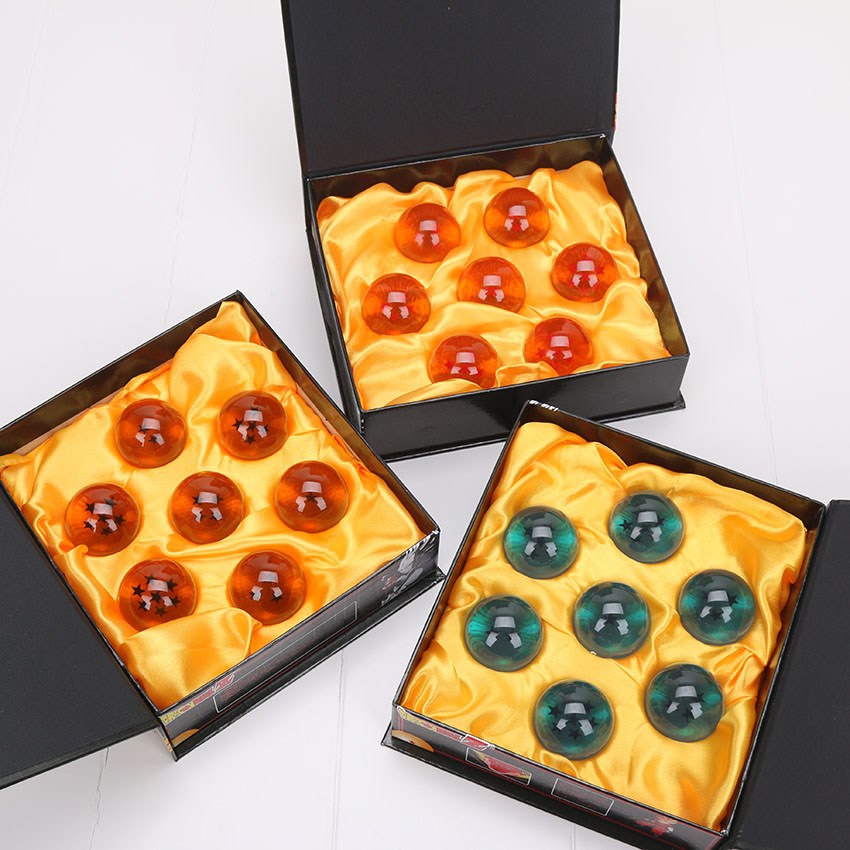 Anime DragonBall 7 Stars 7pcs/set 4cm Crystal Ball Dragon Ball Z Balls Complete set Christmas