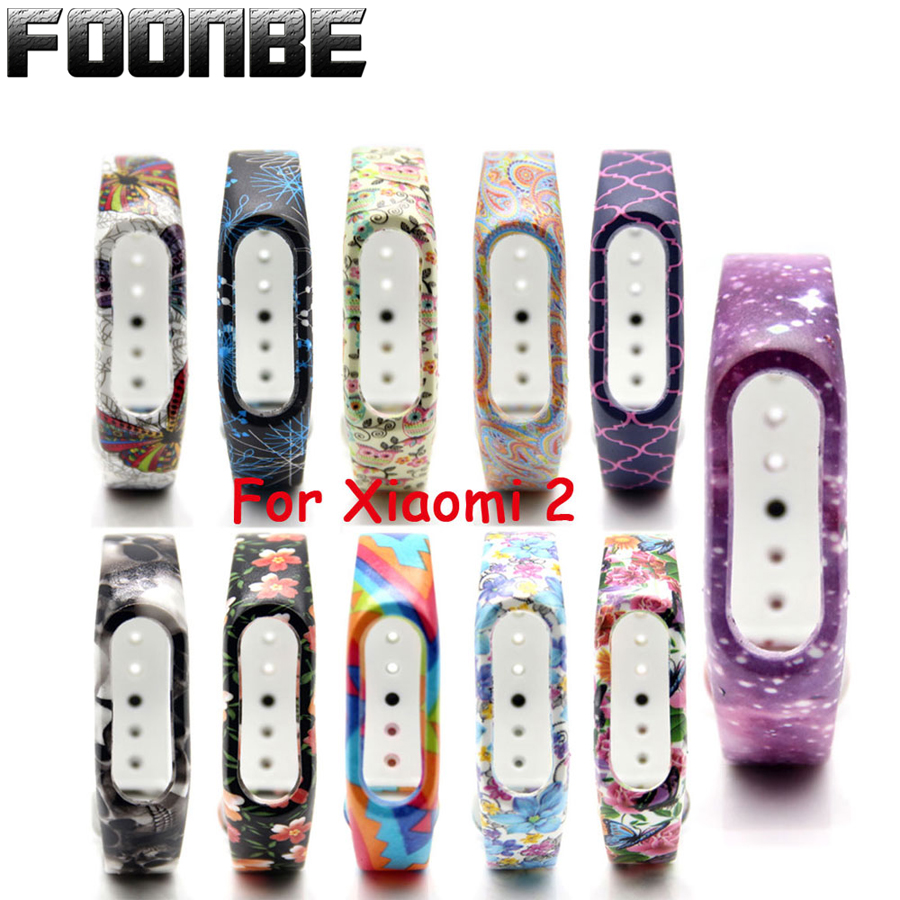 Foonbe Brand For Mi Band 2 Strap Silicone Colorful Strap For Xiaomi 2 Wristband For Mi Band 2 Bracelet  Band
