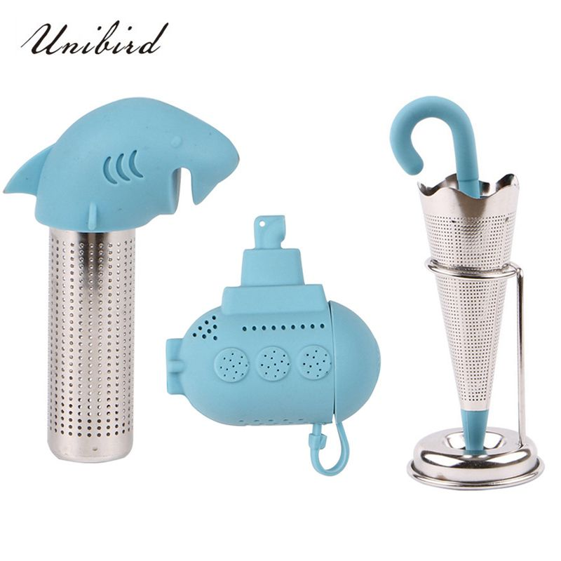 Unibird 1Pc Food Grade Silicone Tea Infuser Cartoon Tea Strainer Kitchen Creative Filter Loose Leaf Herb Spice Diffuser