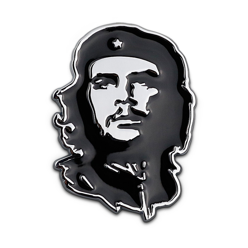Car Sticker Emblem Badge Che Guevara Metal 2 Colors Tuning Auto Motorcycle Car Styling Accessories rhino tuning 5pcs autobiography ultimate edition aluminum sticker badge emblem car auto styling fit defender range 108