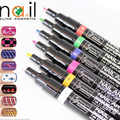 New Arrival 16 Colors DIY Charm Women's Delicate Pretty Nail Art Nail Polish Pen UV Gel Manicure Nail Tool