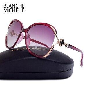 Image 4 - Oversized Polarized Sunglasses Women UV400 Gradient Lens Luxury Sun Glasses Vintage Ladies Sunglass Woman 2020 очки With Box