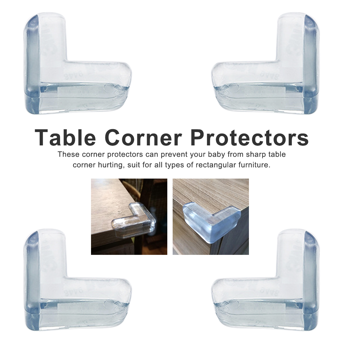 4Pcs Silicone Safety Protector Table Corner...