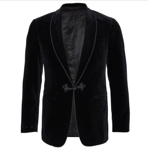Бархат Для мужчин бордовый черный бархатный пиджак Элегантные Свадебные Жених Дизайнерская одежда для вечеринок пиджаки с брюки Лучшие Му