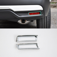2017 decoration car parts ABS chrome rear foglight cover 2pcs Car Styling For Nissan 17 KICKS