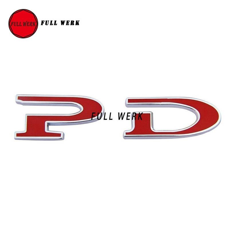 1 pack tesla merah kata p d kustom emblem sticker badge untuk tesla model s p85d p70d 2012 2016 di mobil stiker dari mobil sepeda motor