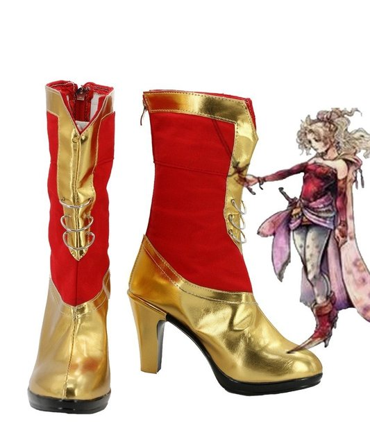 FF6 Dissidia Final Fantasy Terra Branford Cosplay Shoes Boots Custom Made