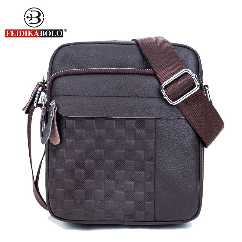 FEIDIKA BOLO Brand Messenger Bag Men Genuine Leather Shoulder Bag Man Satchels Handbags Sling Bags designer Men Crossbody Bags male casual messenger bag men shoulder bag man satchels handbags pu leather sling bag designer men crossbody travel bags li 1948