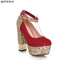QZYERAI spring  the metal is thick with womens single shoes high heels sexy women's shoes European and American style