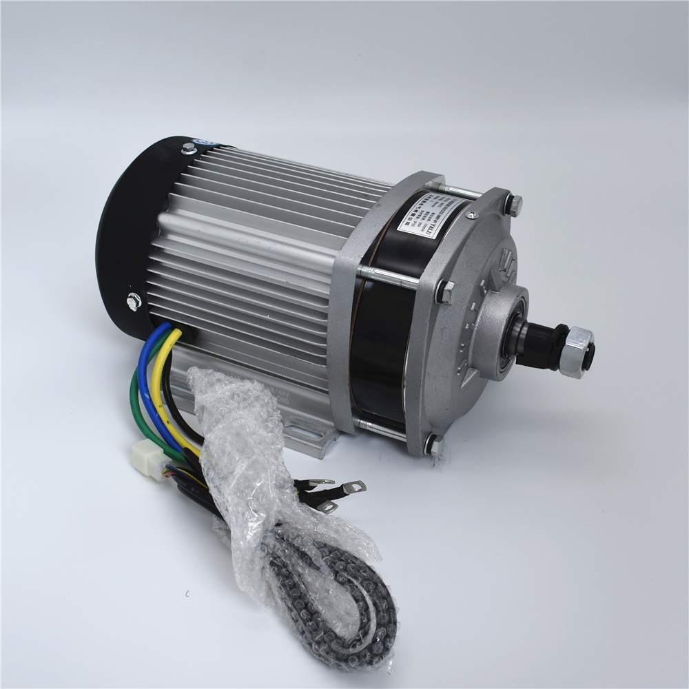 Electric vehicle platform  handling a flat sprocket reducer DC Motor BM1412ZXF1000W48/60/72V rf cushman cushman handling fidelity
