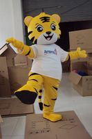 Tiger Mascot Costume Yellow King Tiger many clothes Bear Mascot Costume Animal Cartoon Fancy Dress Adult Size Free Ship