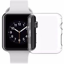 db2c144c93a Para A Apple caso relógio Iwatch tpu protetor de tela all-around capa  protetora transparente ultra-fino para iwatch 38mm 42mm