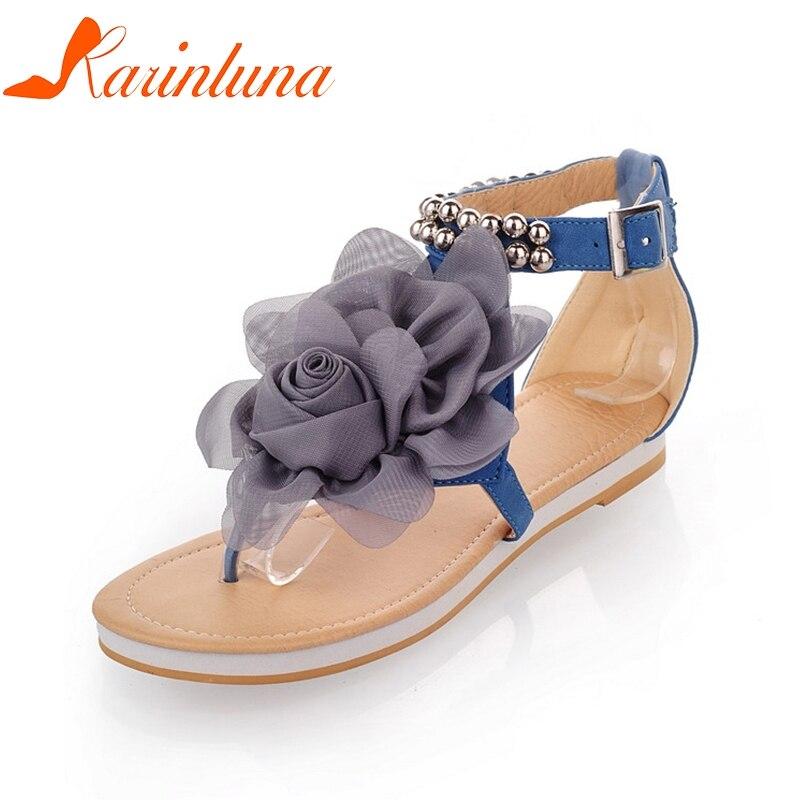 Al azul Por Zapatos Beige Mujeres Rebordear Tamaño Tobillo Mujer 43 Grande  Estilo Moda 30 Karinluna Bohemia Playa rosado Suave Mayor Verano Sandalias  qtERw7 4482e0cf33a9