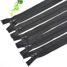 Nylon Zipper No.3 Black Closed-tailed Mens Trousers Access Control