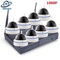 SSICON домашняя система наблюдения ссtv беспроводная DVR 8CH IP CCTV комплект HD 1080 P P2P IR ночного видения видеонаблюдения wi fi комплект