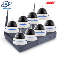 SSICON Home Security Camera CCTV System Wireless DVR 8CH IP CCTV Kit HD 1080P P2P IR
