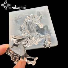 1pcs UV Resin Jewelry Liquid Silicone Mold Big Unicorn Horse Molds For DIY Charms Making
