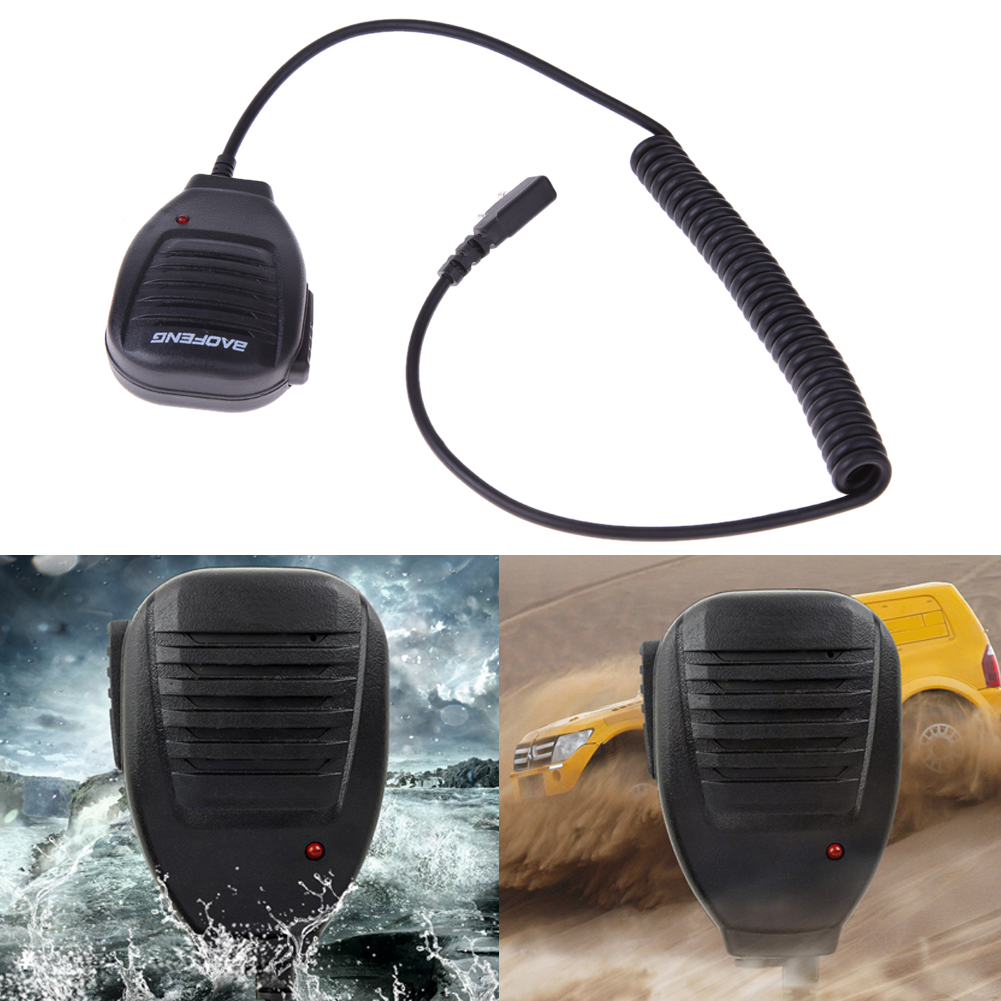 2Pcs PTT Speaker Microphone Walkie Talkie Handheld MIC Accessories WSX For Kenwood Baofeng BF-888S BF-UV5R Retevis RT5R H777 RT3(China)