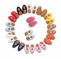 100 pairs/lot New candy colors Hard sole Newborn shoes lace-up brand Pu leather baby shoes girls fringe baby moccasins shoes