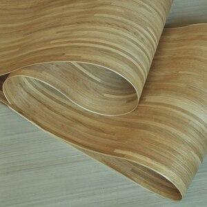 Image 3 - טבעי פרקט עץ פורניר רוסית אלון פורניר צלב לחתוך עם תומך צמר