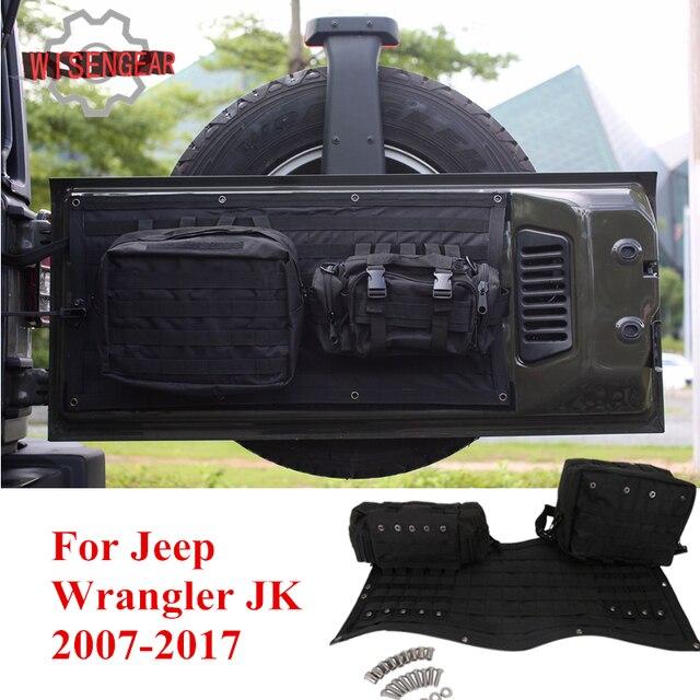 € 77.23 14% de réduction|Housse de hayon de voiture Multi poches sac de rangement et trousse à outils sac de transport sacoche pour Jeep Wrangler JK