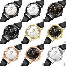 Момент # L05 2018 Женева Водонепроницаемый модные женские туфли часы кожа Повседневное мужские часы класса люкс Аналоговый Платье Кварцевый Наручные часы