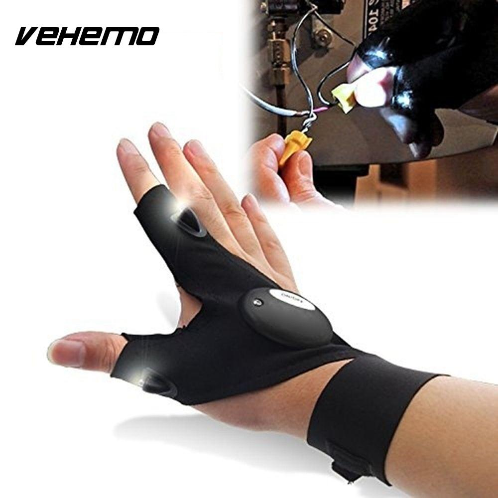 LED Light Gloves Finger Lighting Auto Repair Outdoors Flashing Camping Artifact Cover Black Camping Riding Glovelite Gloves