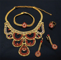 Indian Jewelry Sets African Women Necklace Pearl Jewelry Bead Wedding Blue Necklace