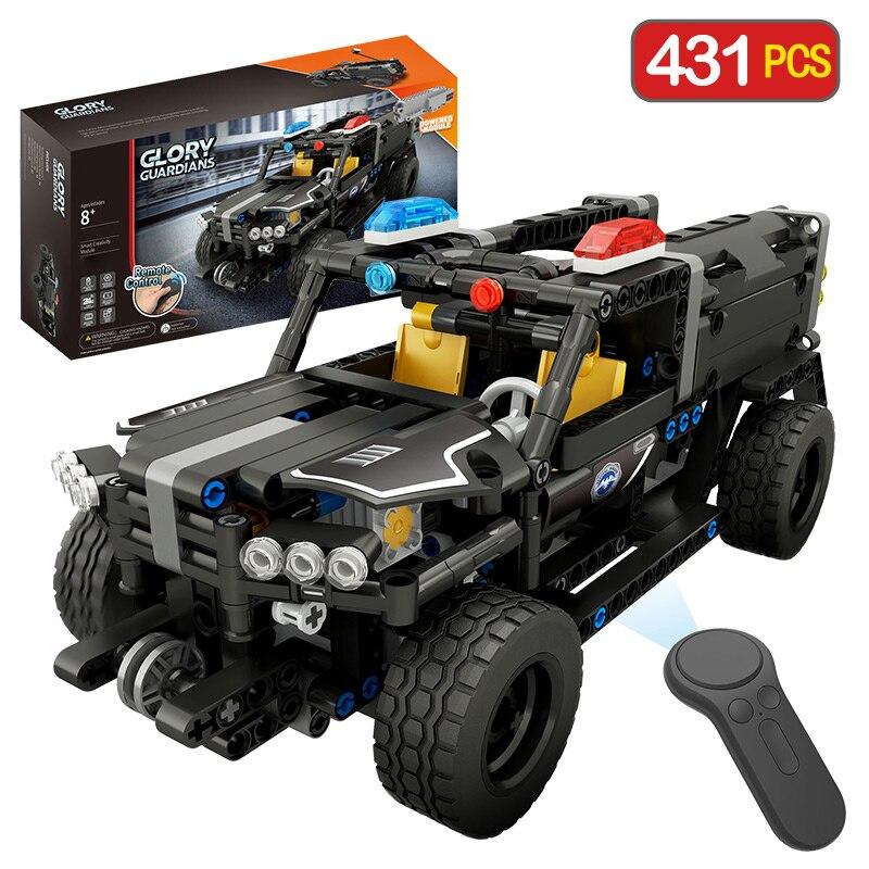 Дистанционное управление полиции Hummer Совместимость LegoING техника автомобиль город RC модель здания игрушечный конструктор для мальчиков