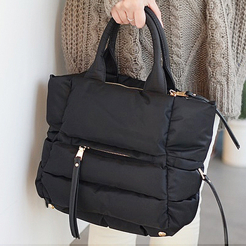 Зимняя женская сумка-тюк, повседневная Хлопковая Сумка-тоут с подкладкой из перьев, 2018