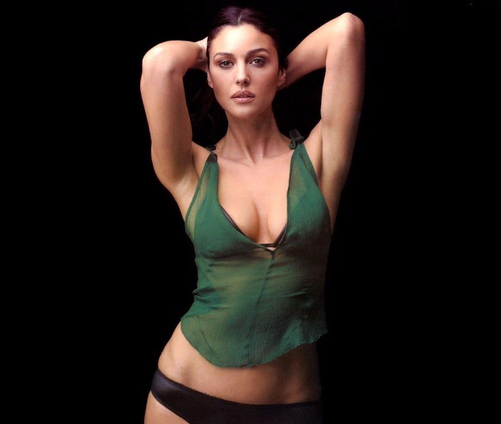 Monica Bellucci Hot Beautiful Model Silk Art Poster Bedroom Decoration 2980