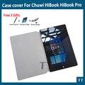 Para Chuwi HiBook Pro caso de Alta qualidade 10.1 de Polegada Caso Pu de Couro Para CHUWI HiBook Pro/HiBook/Hi10 Pro Tablet PC + 3 Presentes