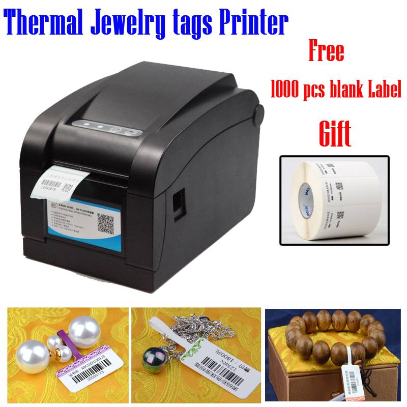 80mm tagging machine for Jewelry printing solution thermal printer no need ribbon provide free template support many language