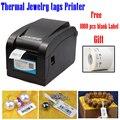 Máquina de etiquetado para La Joyería solución de impresión de la impresora térmica de 80mm sin necesidad de cinta proporcionar plantilla libre soportar muchos idiomas
