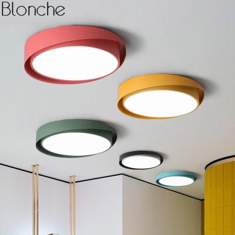 Moderne Led-deckenleuchten für Wohnzimmer Schlafzimmer Lampe Nordic Runde Decke Lampe Home Art Decor Küche Leuchten Leuchte