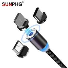 SUNPHG Cable Micro USB magnético para móvil, Cable de carga tipo C para iPhone x, xr, oneplus 6t, Samsung s9