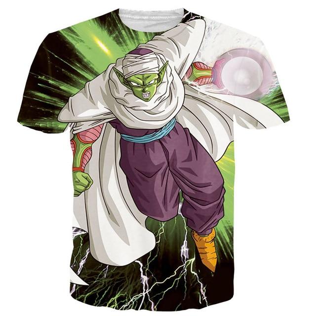 Classic Anime Dragon Ball Z Super Saiyan T shirts Women Men Hipster 3D T shirt Goku/Vegeta tshirts Summer Casual Tops Tees 3D001
